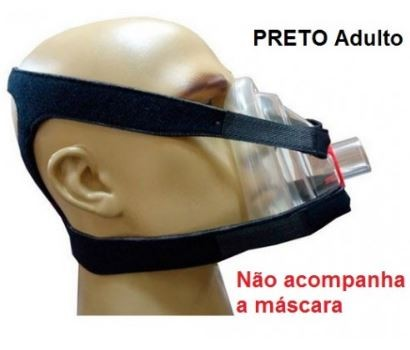 FIXADORES CEFÁLICO (FIX HOLDER) ADULTO  PRETO - RESMED