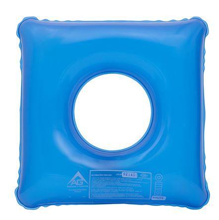 Forração (Assento) Ortopédica Inflável Quadrada com Orifício 1008 - AG Plástico