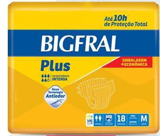 Fralda Geriátrica Bigfral Plus Embalagem Econômica Tam. M (Pct c/ 18 Unds.) - Bigfral