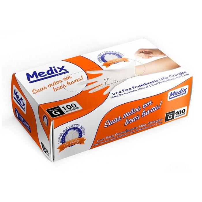Luva de Procedimento Látex P 100 Unds - Medix