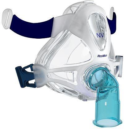 MÁSCARA PARA CPAP BIPAP FACIAL QUATTRO FX NV MÉDIO 61740  - RESMED