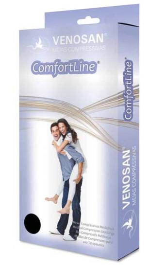 MEIA PANTURRILHA COMFORTLINE 20-30MMHG G LONGA ABERTA BEGE (AD) - VENOSAN