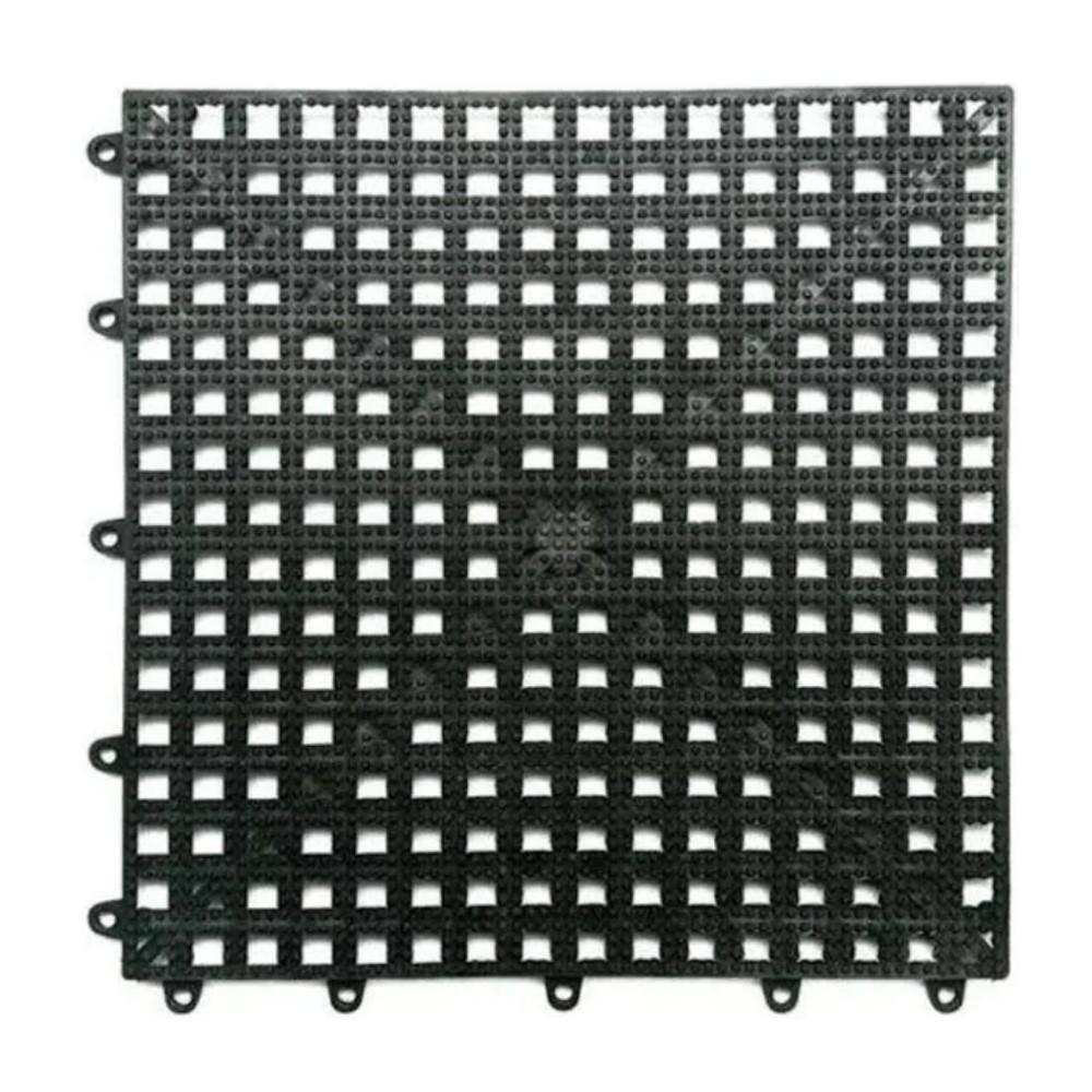 PISO ANTIDERRAPANTE ACQUA KAP (C/6) 30 X 30 CM PRETO - KAPAZI