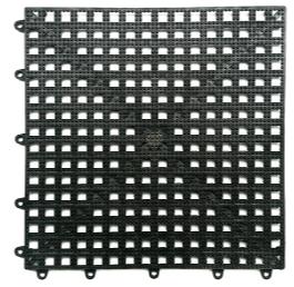 PISO ANTIDERRAPANTE ACQUA KAP (C/6 PEÇAS) 30 X 30 CM PRETO - KAPAZI