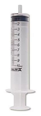 Seringa Descartável 10 ML S/AG C/200  BICO SLIP - INJEX