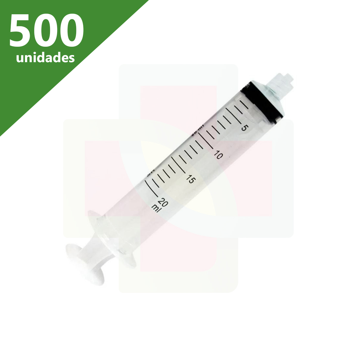 SERINGA DESCARTÁVEL 20 ML C/AG LUER LOCK (C/500) - SR