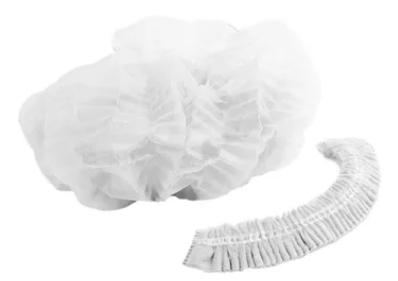 Touca descartável c/elast.(pct c/100) branca descarpack