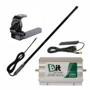KIT Repetidor Celular Veicular 850/1800 MHz Sup. Adaptacao