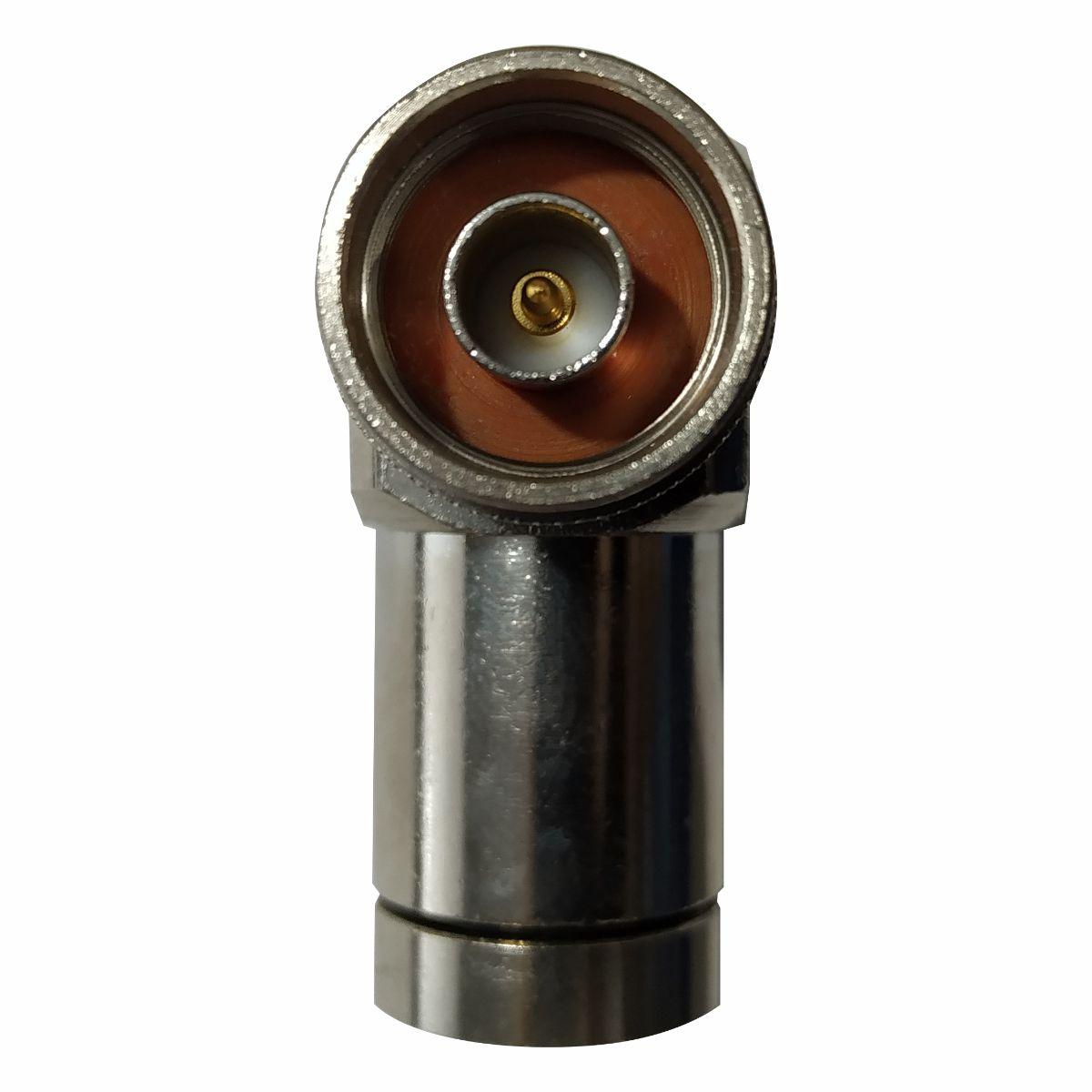 Conector N Macho Angular p/ Cabo Cellflex 1/2 Corrugado