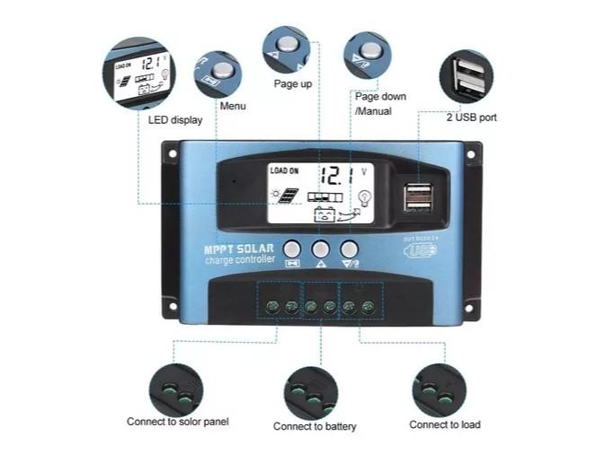 Controlador de Carga 100A P4