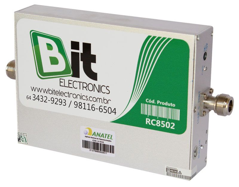 KIT Repetidor Celular 850 MHz 70 dB Antenas 20 dBi e 1 dBi