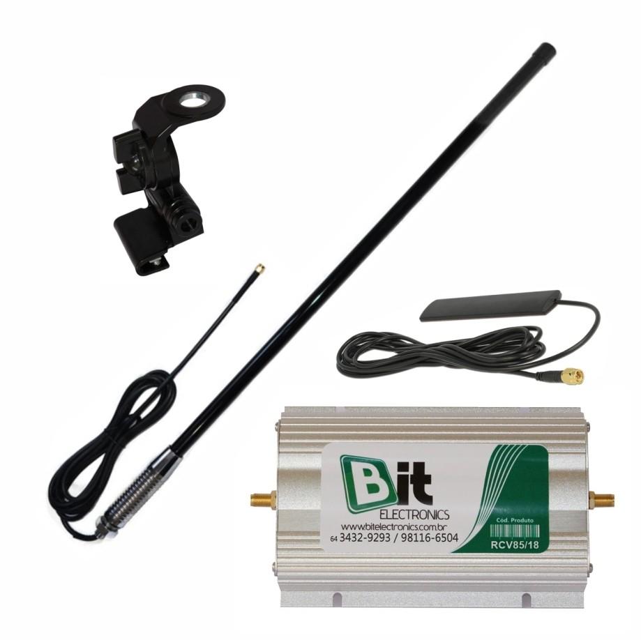 KIT Repetidor Celular Veicular 850/1800 MHz com Suporte