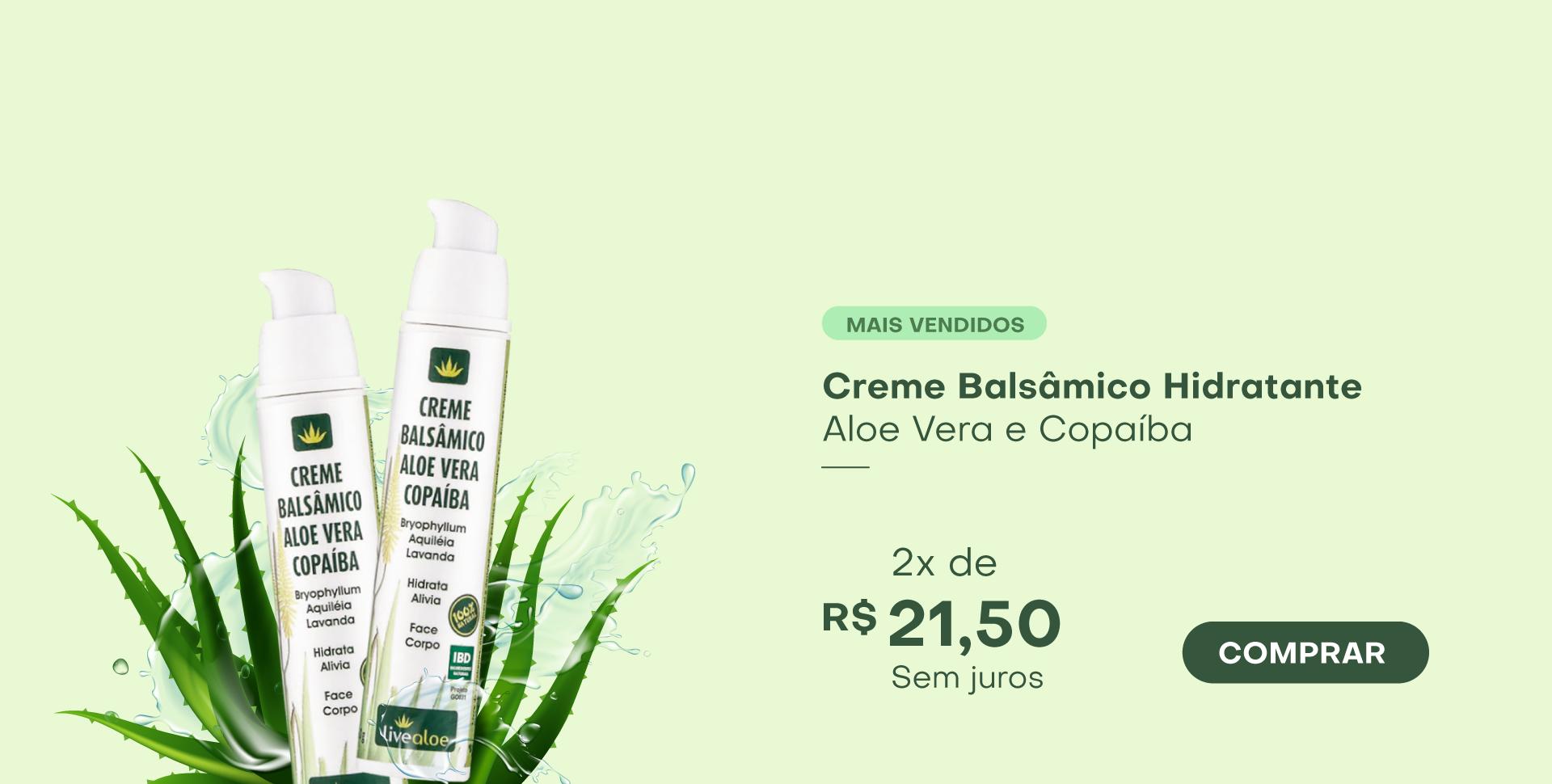 Creme Balsâmico Hidratante Aloe e Copaíba