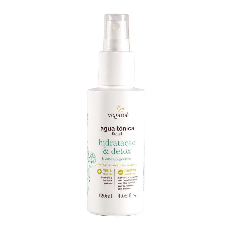 Água Tônica Facial Hidratação e Detox 120 ml Vegana - WNF