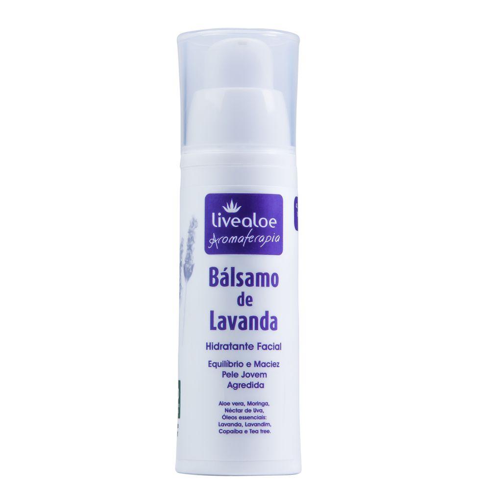 Balsamo Facial para Peles Oleosas de Lavanda 30 ml - Livealoe