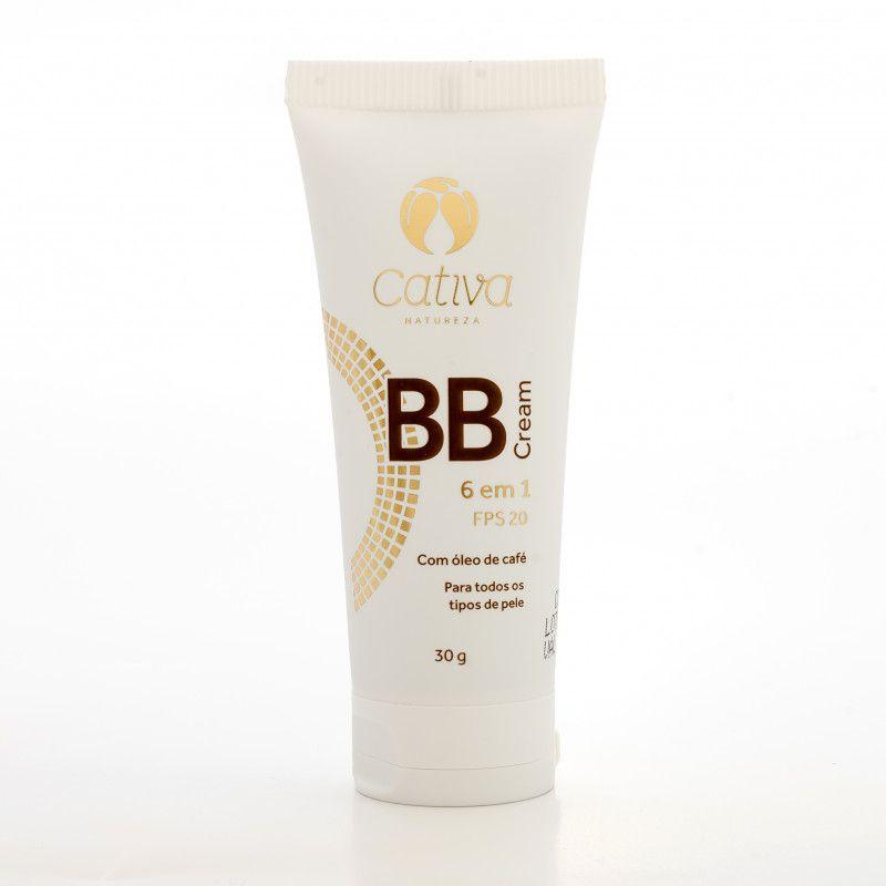 BB Cream 6 em 1 FPS 20 cor 1 - Cativa