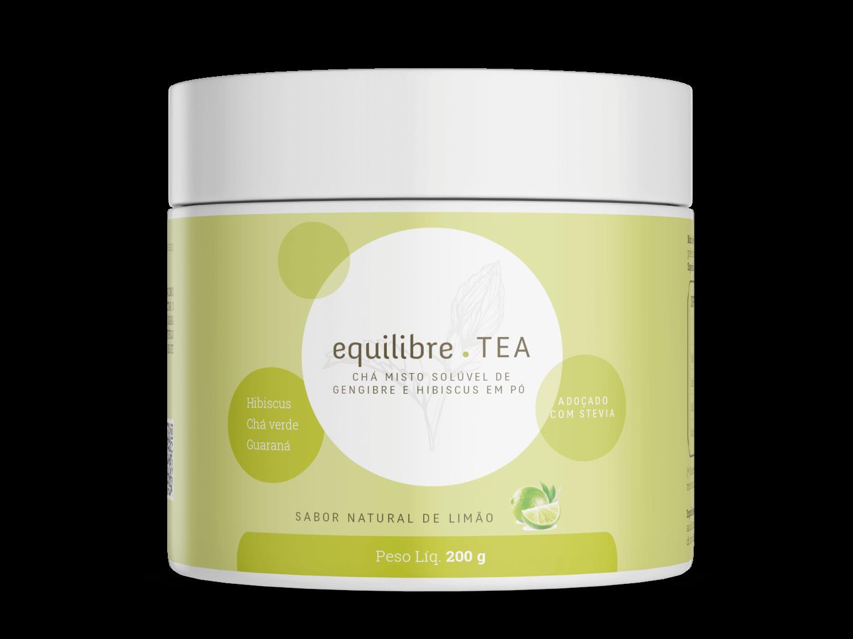 Chá Energizante Solúvel Misto de Gengibre e Hibisco 200g Equilibre Tea