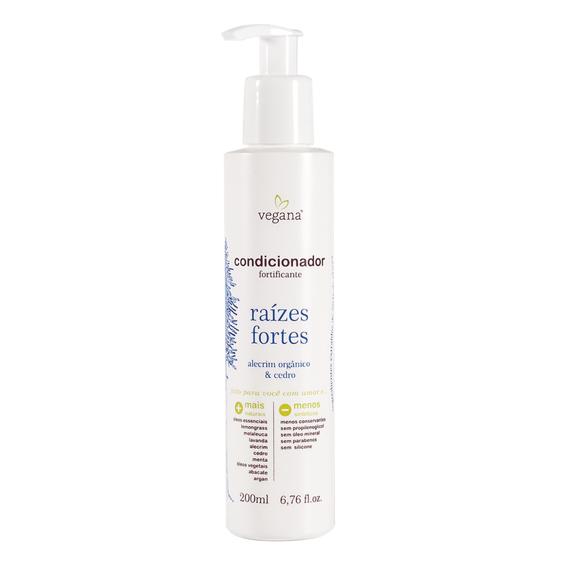 Condicionador Fortificante Raízes Fortes 200 ml Vegana - WNF