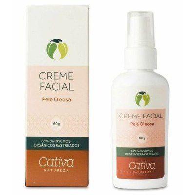 Creme facial para pele Oleosa 60 ml - Cativa
