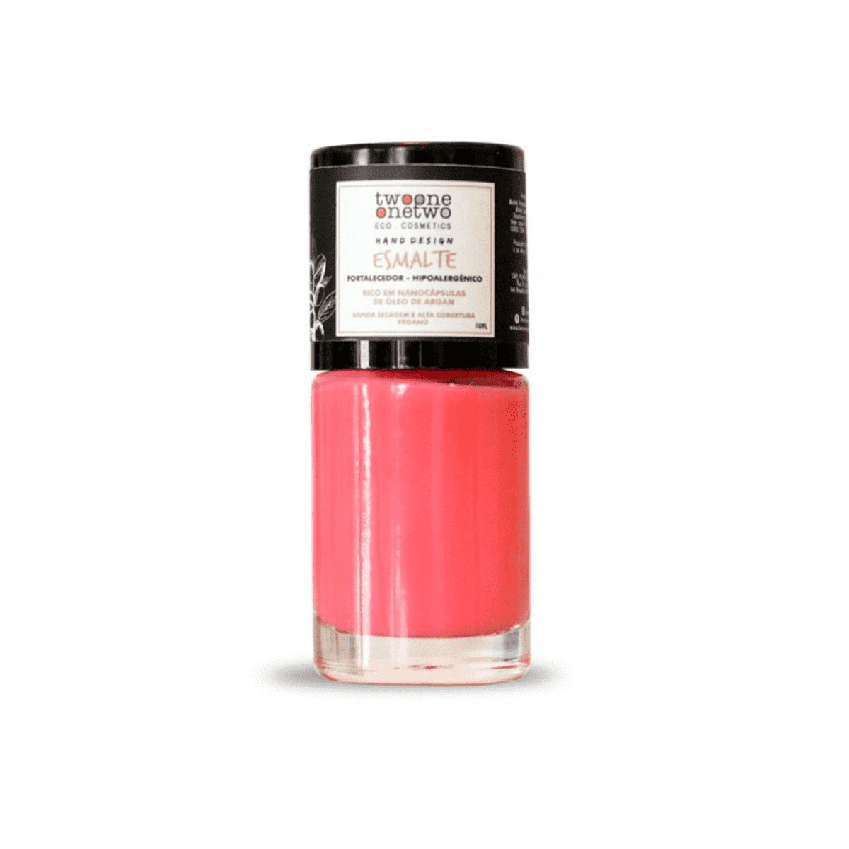 Esmalte Hipoalergênico Fortalecedor Living Coral 10 ml - Twoone Onetwo