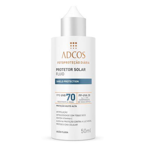 Filtro Solar FPS 70 Fluid Incolor 50ml - Adcos