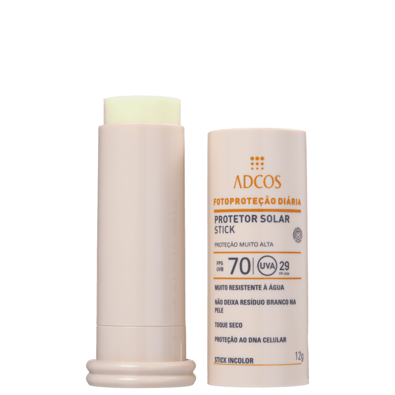 Filtro Solar FPS 70 Stick Incolor 12g - Adcos