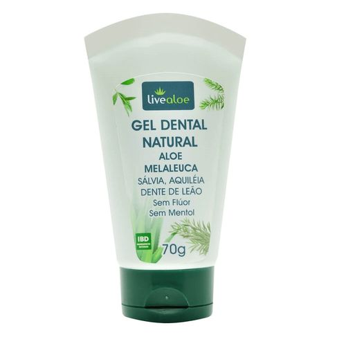 Gel Dental Natural Orgânico de Aloe e Malaleuca 70 g - Livealoe