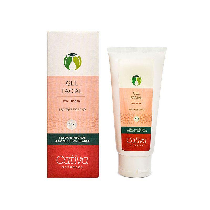 Gel Secativo Facial para Peles Oleosas 60 g - Cativa