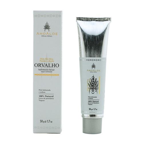 Hidratante Facial com toque acetinado Orvalho 50g - Ahoaloe