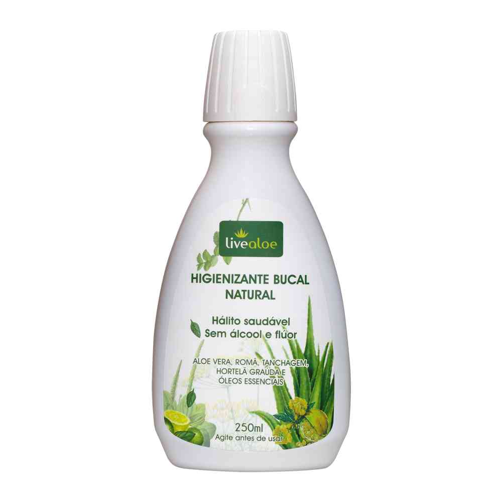 Enxaguante Bucal Natural sem Álcool 250 ml - Livealoe