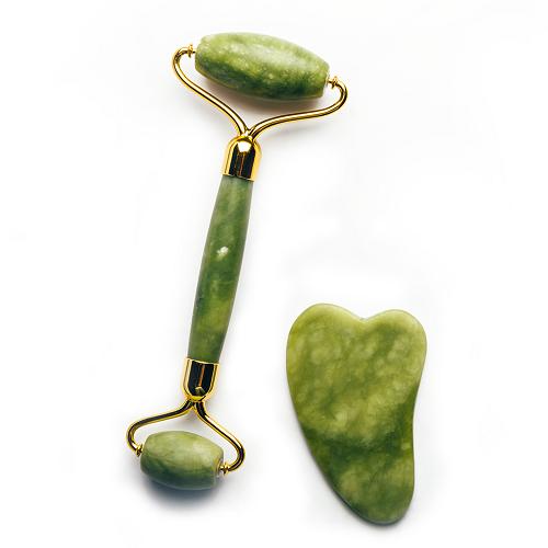 Kit Massageadores Faciais de Pedra Jade