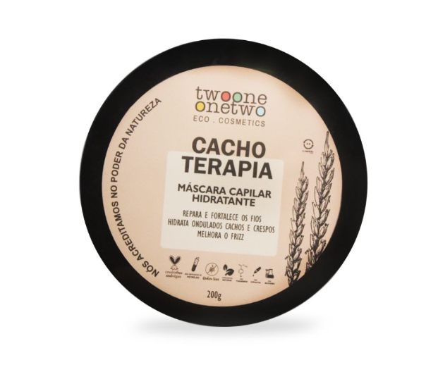 Mascara Capilar Hidratante Cachos Terapia 200g - Twoone Onetwo