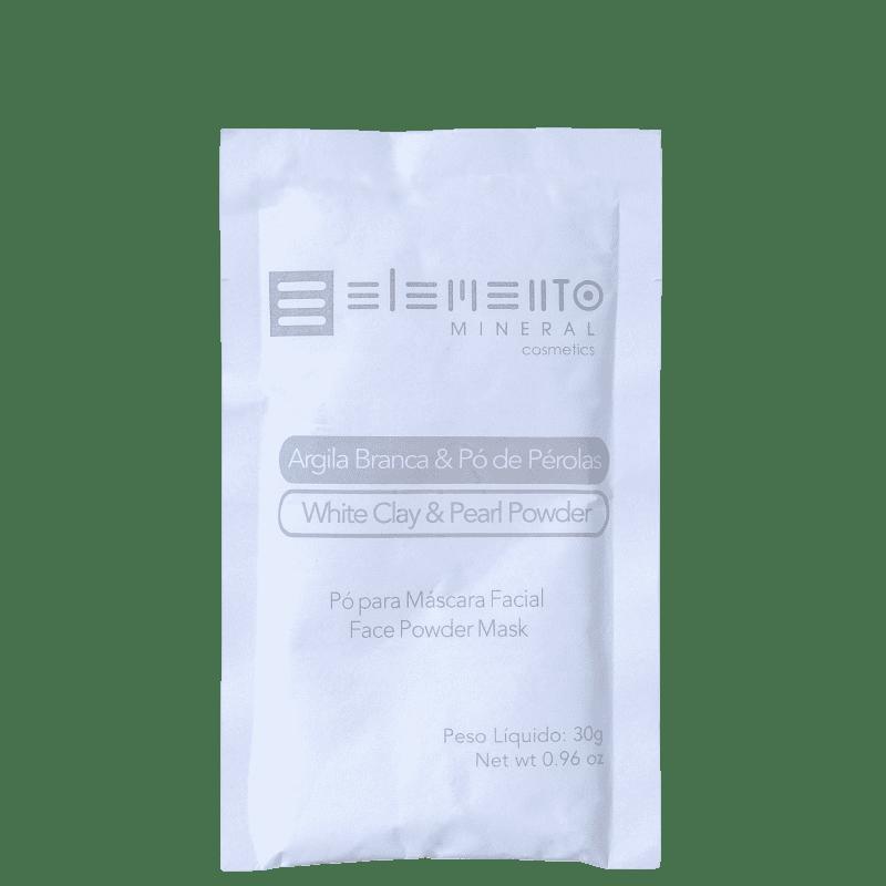 Mascara de Argila Branca com Pó de Perolas 30g - Elemento Mineral