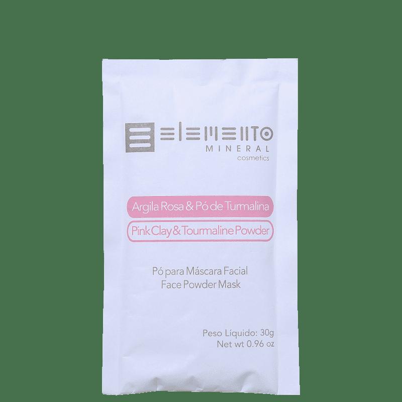 Mascara de Argila Rosa com pó de Turmalina - Elemento Mineral