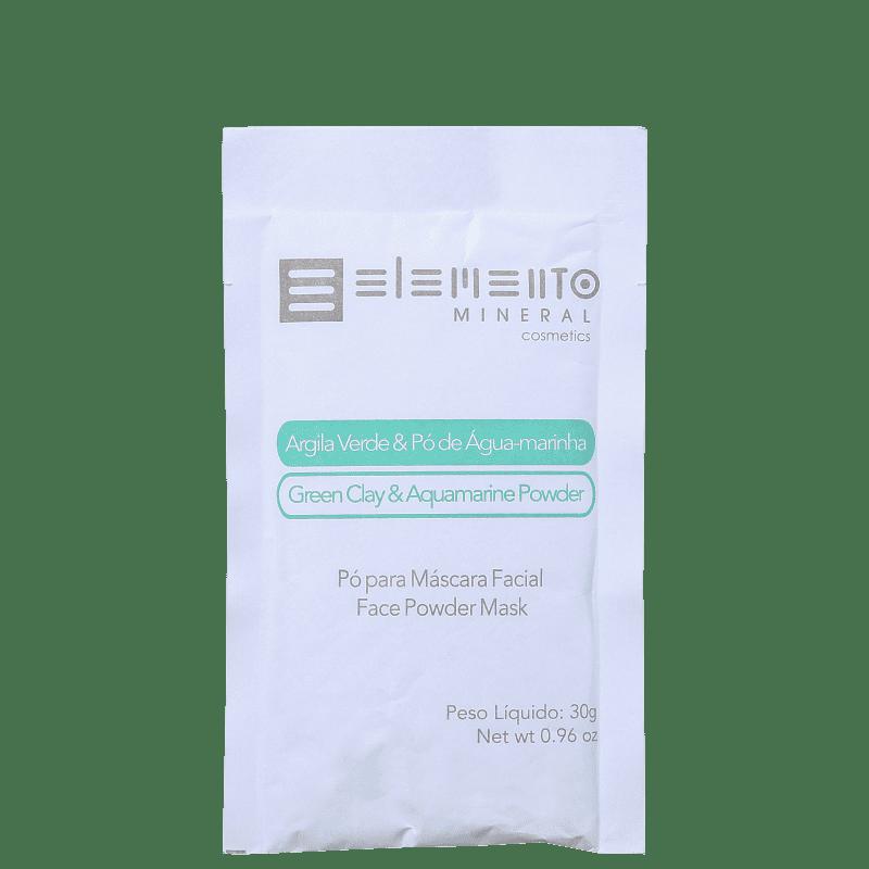 Mascara de Argila Verde com Pó de Água Marinha 30 g - Elemento Mineral
