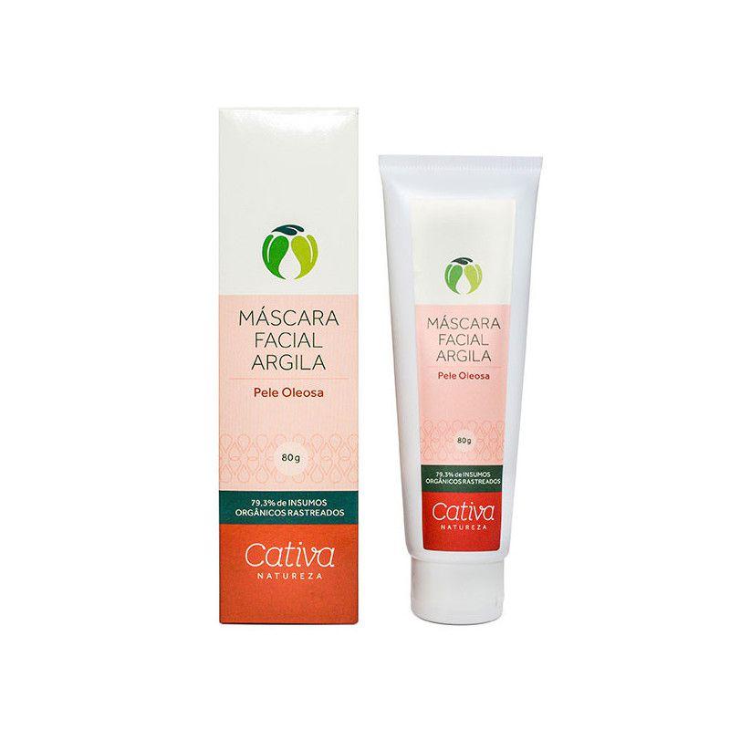 Mascara Facial pele Oleosa 80 g - Cativa