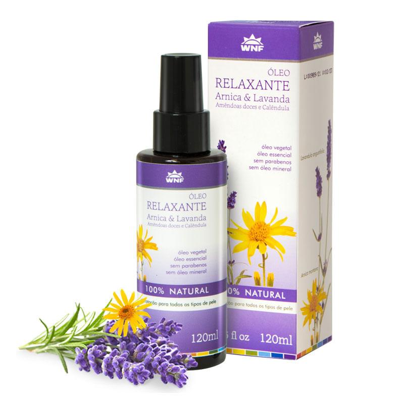 Óleo de Massagem Relaxante com Lavanda e Amêndoas 120 ml - WNF