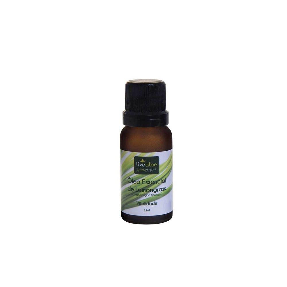 Óleo essencial de Lemongrass 12 ml - Livealoe