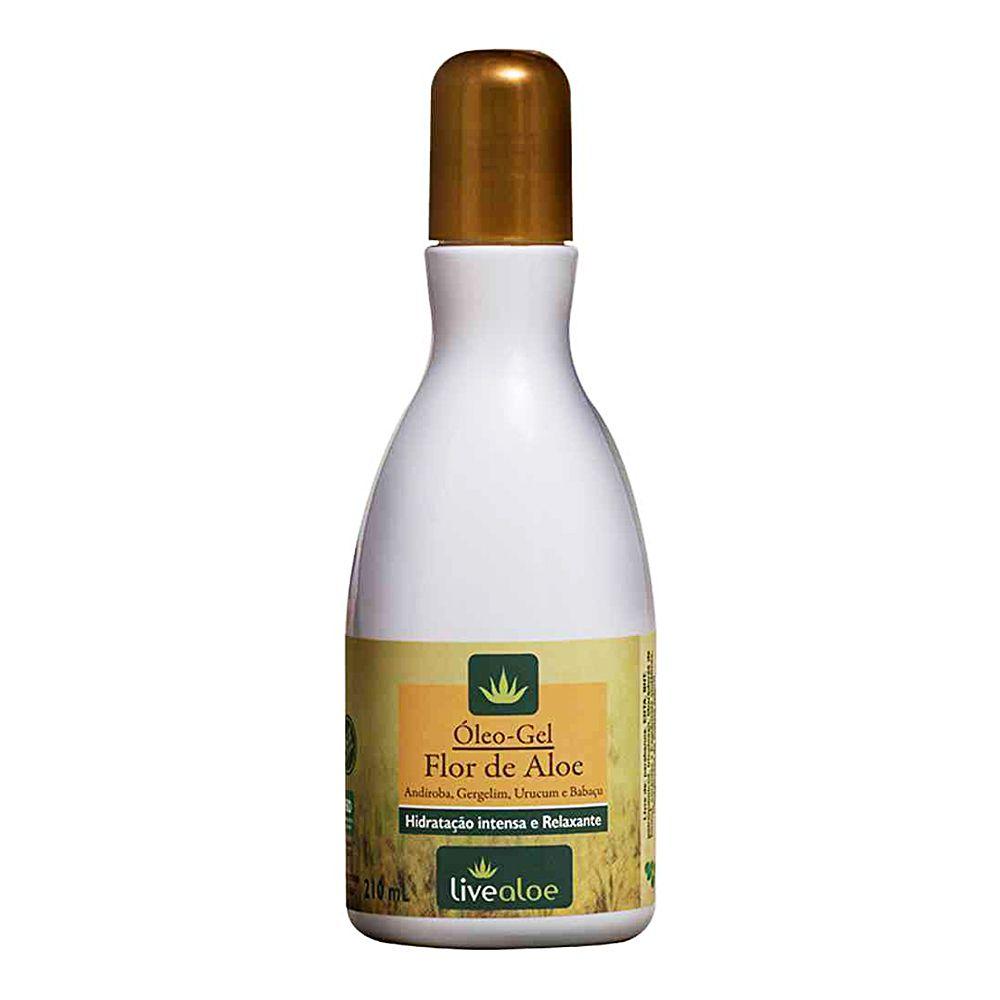 Óleo Gel Hidratante e Relaxante Flor de Aloe 120 ml - Livealoe