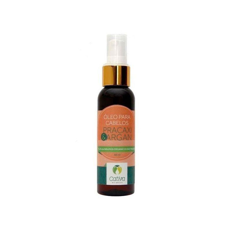 Óleo para cabelos Pracaxi e Argan 60 ml - Cativa