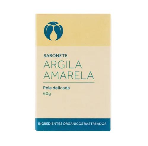 Sabonete Facial Argila Amarela em Barra 60 g - Cativa