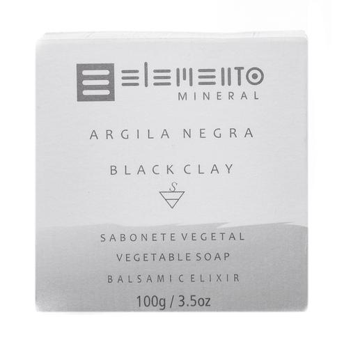 Sabonete em Barra Argila Negra 100 g - Elemento Mineral