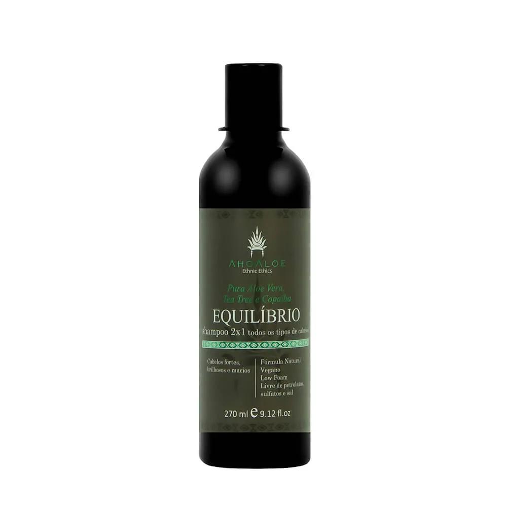 Shampoo para Cabelos Normais 2 em 1 Equilíbrio 270 ml - Ahoaloe