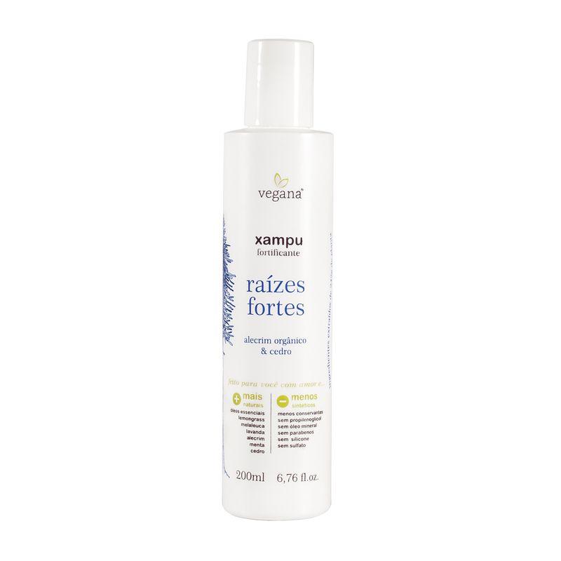 Shampoo Fortificante de Alecrim Raizes Fortes 200 ml Vegana - WNF