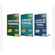 Constituição Federal + Código Civil + Código de Processo Civil - 2021 - 2º Semestre - Legislação Seca