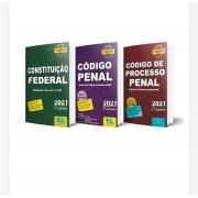 Constituição Federal + Código Penal + Código de Processo Penal - 2021 - 2º Semestre - Legislação Seca