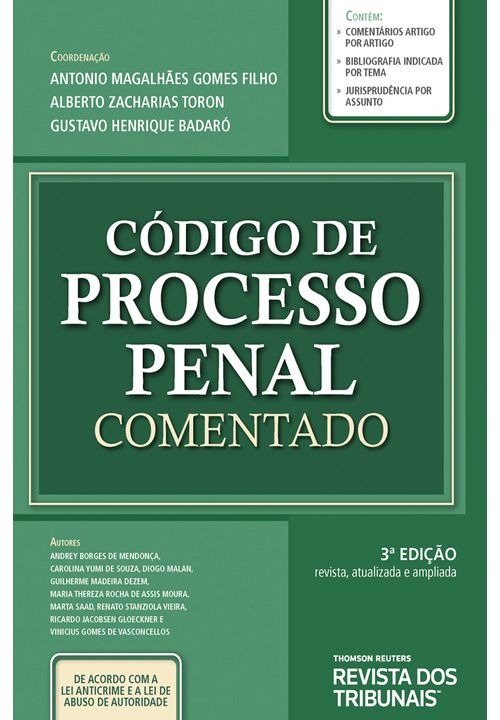Código de Processo Penal Comentado 3º edição