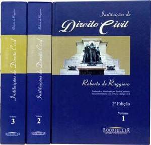 INSTITUIÇÕES DE DIREITO CIVIL - 3 VOLUMES - 2005 - BOOKSELLER