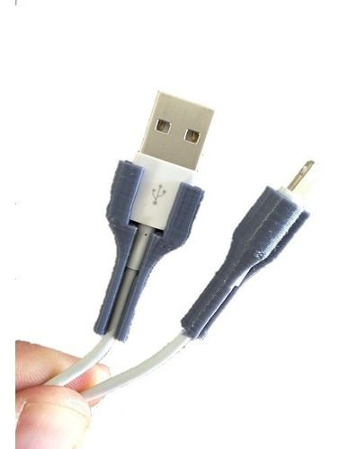 Kit Suporte Protetor Cabos iPhone Lightning Usb