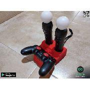 Suporte De Mesa Controle Playstation 4 Ps4 E Move Vr